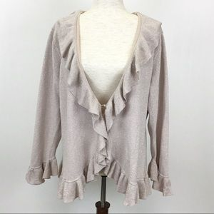 Apostrophe Sweater Cardigan Light Pink Metallic